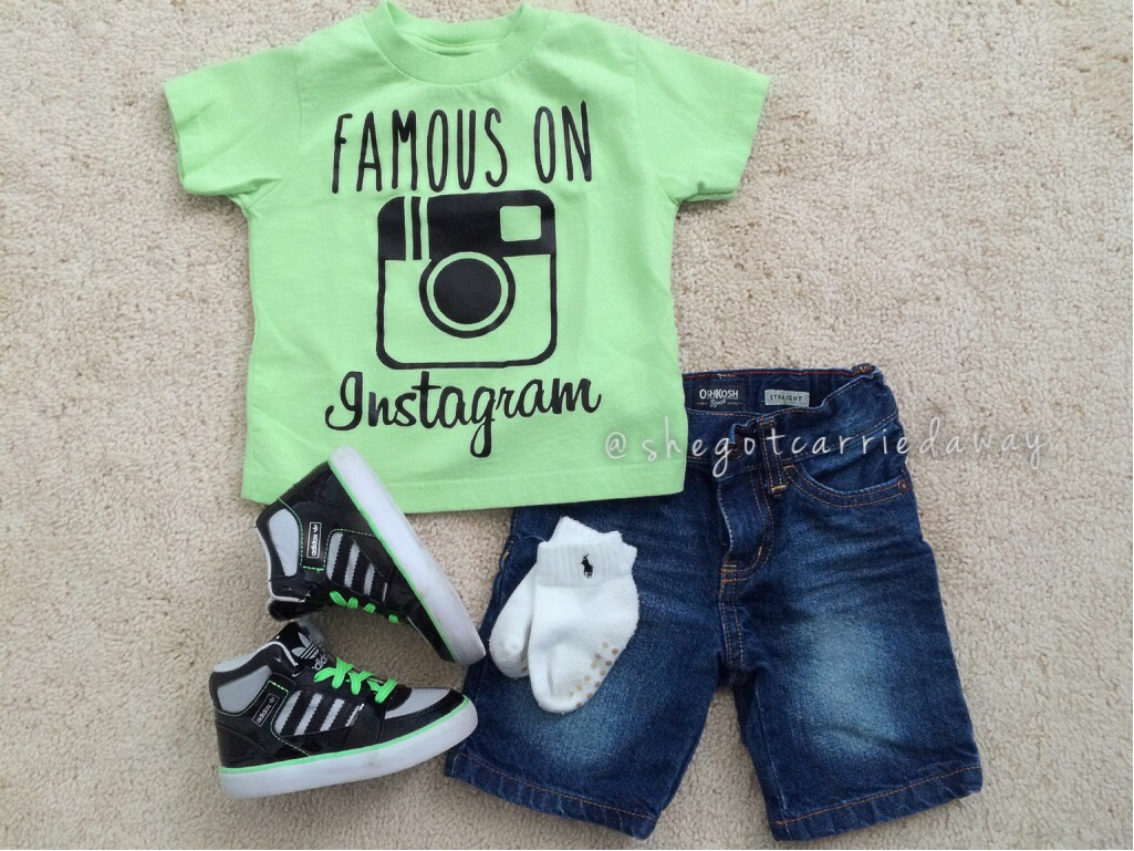 """""""Famous on Instagram"""" shirt was purchased from an IG(Instagram) shop @fitspirationcouture (www.fitspirationcouture.com) this shop is a really cool fun ..."""
